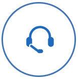 blue headset support logo